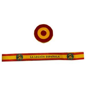 Pack-de-pulsera-de-tela-de-la-Legion-Espanola-y-pin-redondo-de-la-Bandera-de-Esp