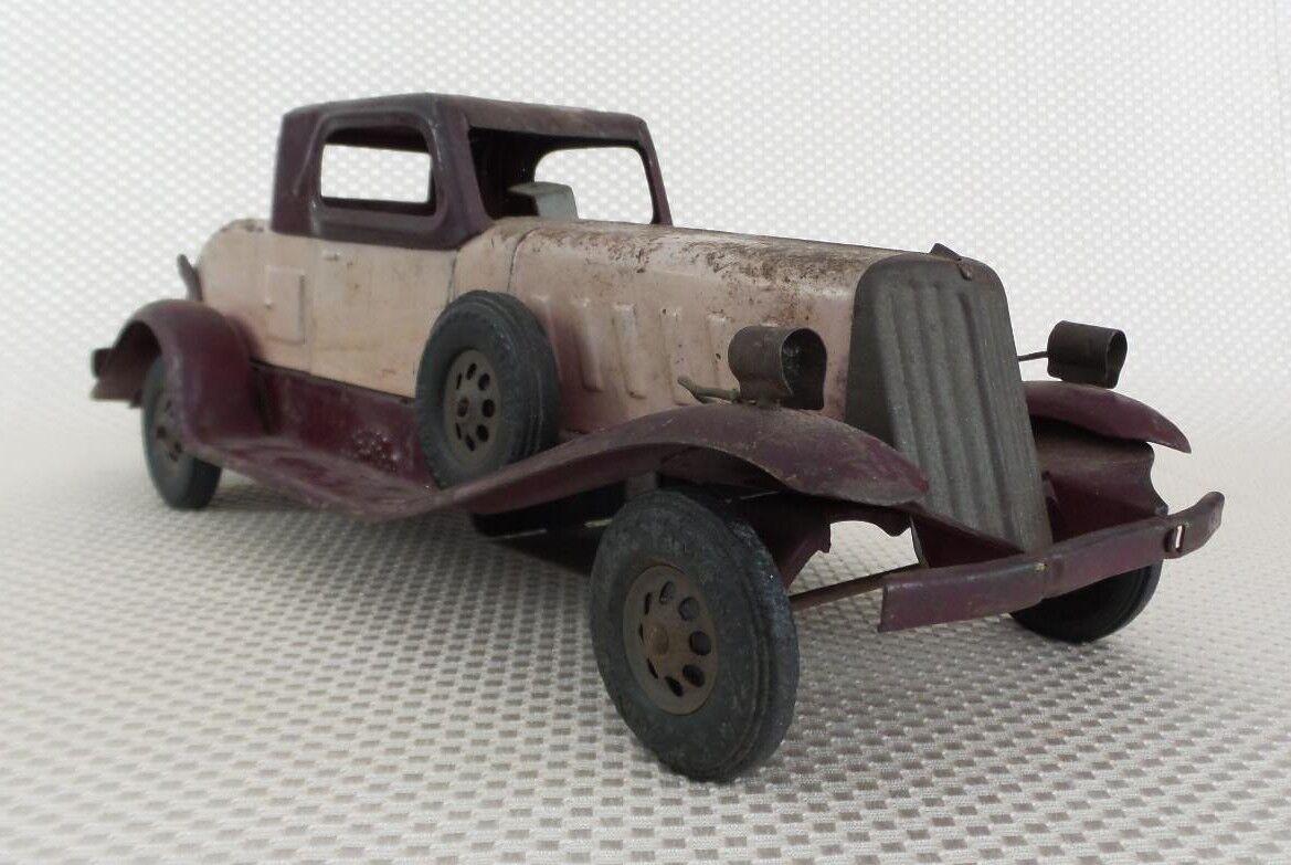 Grand 1932 Girard-PIERCE ARROW  Pikes Peak  Pressed  Steel Wind-Up Toy Voiture  haute qualité générale