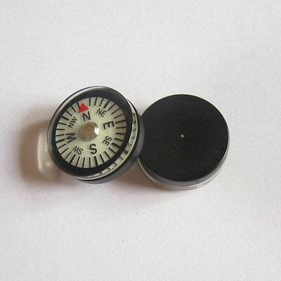 2pcs 20mm Diameter White Dial Luminous Glow in Dark Liquid-filled Compass