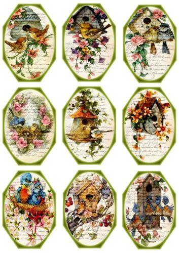9 Bügelbilder-Bügeltransfer-Color-Nostalgie-Landhaus-Shabby-Vintage-**  4215