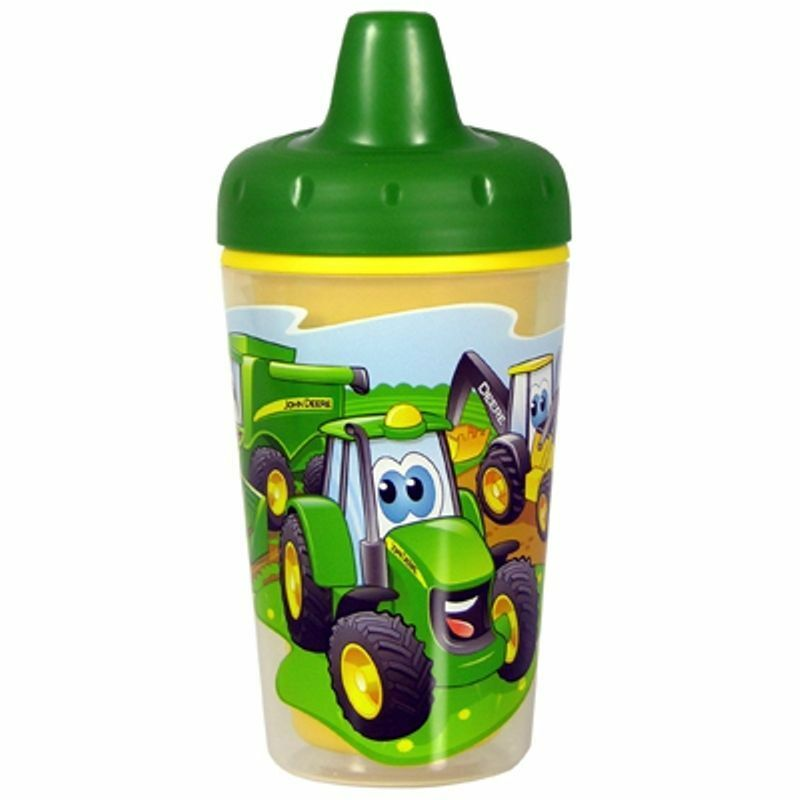 NEW John Deere Insulated Sippy Cup, One Piece Lid, 9M+ (TBEKY9698A)