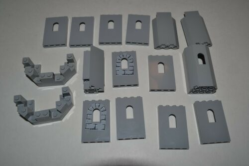 Lego Castle Pieces Lot Panel Light Bluish Gray 6066 30246 60808 87421 2345 ACYA