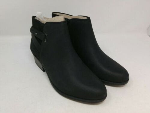 Clarks Women/'s Black Leather Addiy Gladys Fashion Boots Size 9.5 US