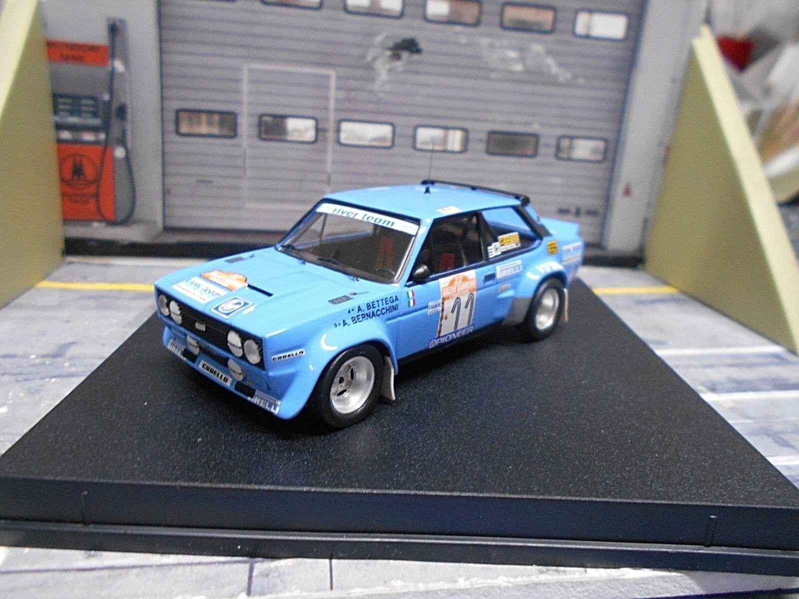 Fiat 131 Abarth Rallye Rallye Rallye San Remo 1980  11 BETTEGA bernach River Team Trofeu 1 43 f470fd