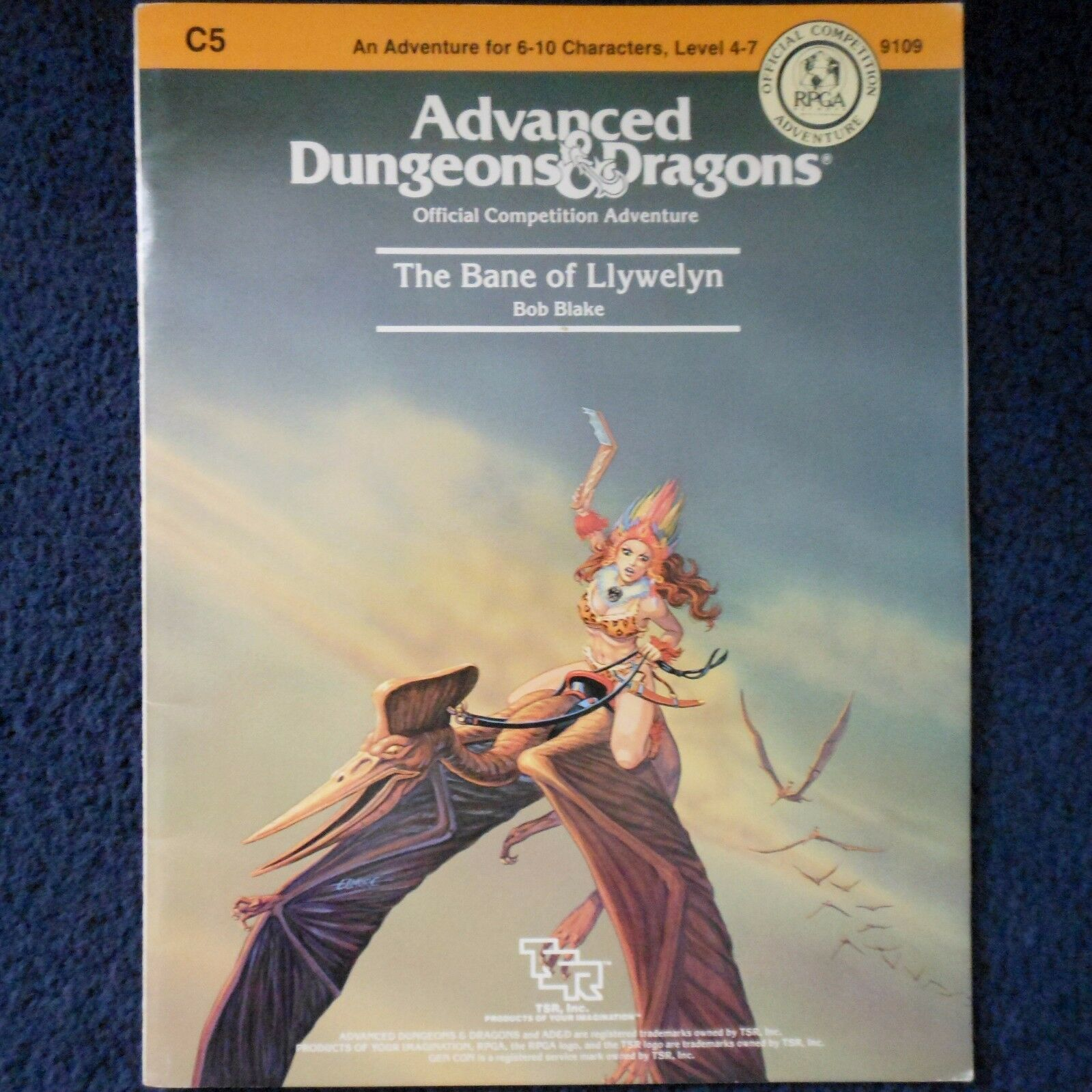 C5 The Bane of Llywelyn Advanced Dungeons & Dragons Adventure Module AD&D 9109