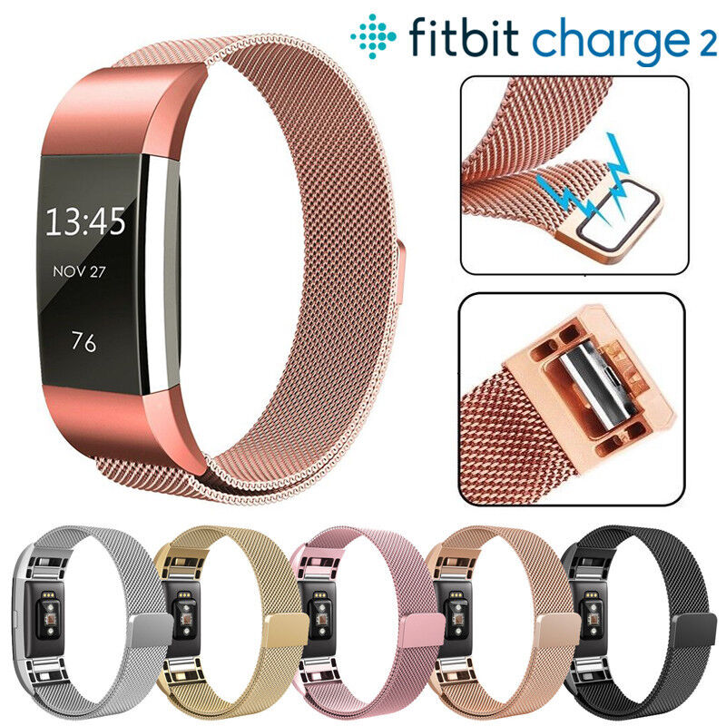 For Fitbit Charge 2 3 Strap Replacement Milanese Band Stainless Steel Magnet OS 2