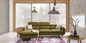 Cesar divano ad angolo senza funzione sleep moderno sofà gambe