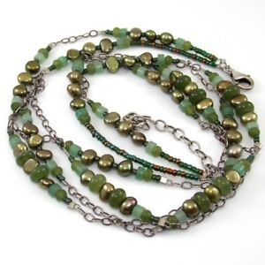 Silpada-N1683-Sterling-Silver-Jade-Pearl-Adventurine-Multi-Strand-Necklace-SGA