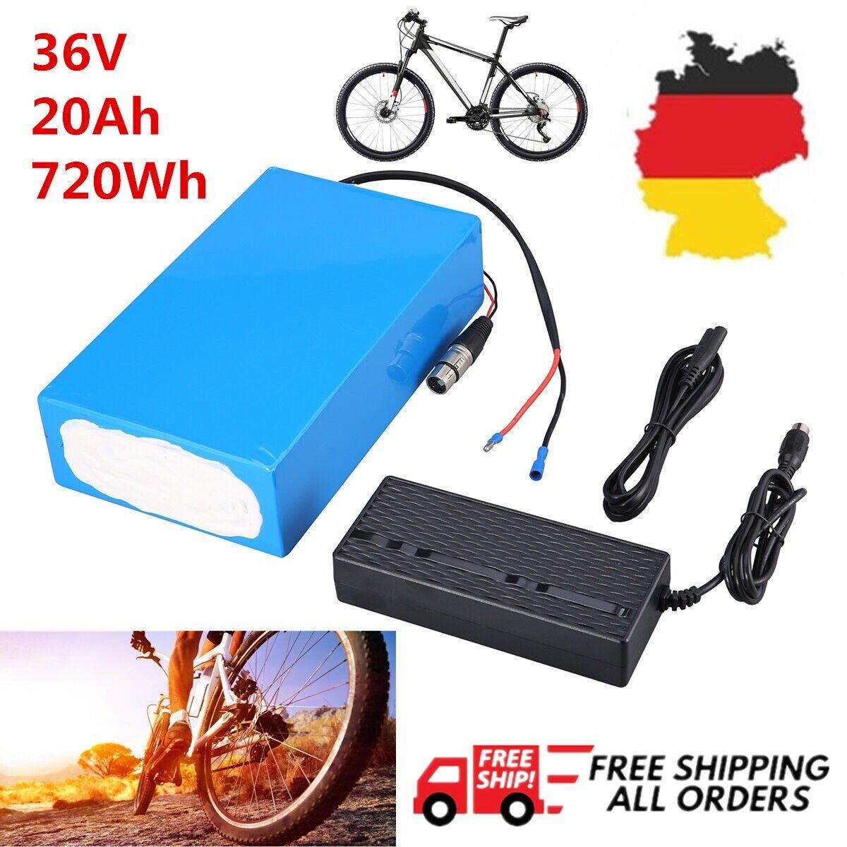 36v 20ah 720wh ebike bicicletta elettrica batteria Liion Batteria Pedelec 2a CARICABATTERIE