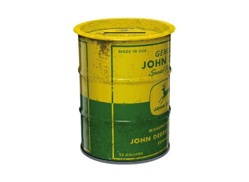 John Deere Spardose Ölfass Sparbüchse Geldspardose Kinder Matt Logo Sparschwein