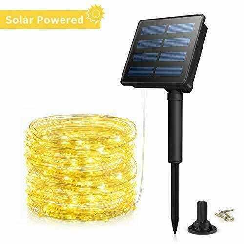 Outdoor Solar String Lights Christmas 33ft 200led