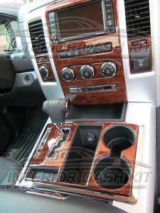 Dodge Ram 1500 2500 3500 Interior Wood Dash Trim Kit Set 2009 09 2010 2011 2012 Ebay