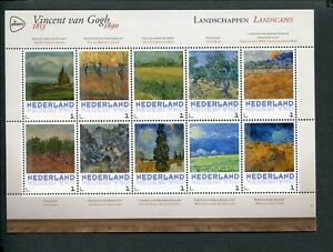 Netherlands-VINCENT-VAN-GOGH-1853-1890-sheet-LANDSCAPES-LANDSCHAPPEN-MNH