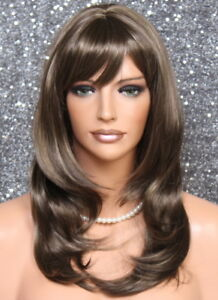Choppy Layered Gorgeous Straight Face Frame Chestnut Brown Mix Wig Swt 8 16 Nwt Ebay