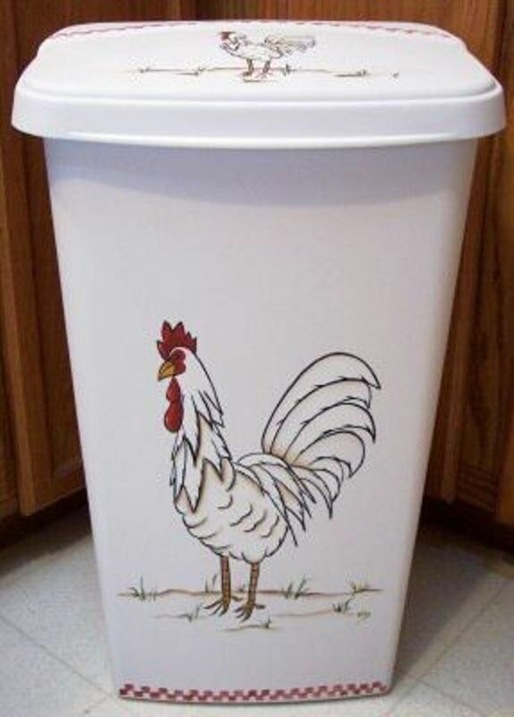 HP ROOSTER TRASH CAN KITCHEN  CHECK IT OUT NEW BY MB