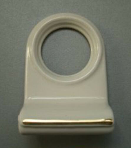 Blanc sur solide cuivre cylindre pull handle