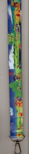 DISNEY KEYCHAIN LANYARD  A DAY IN THE PARK FAVORITE CHARACTERS 20 X 1 INCH WIDE