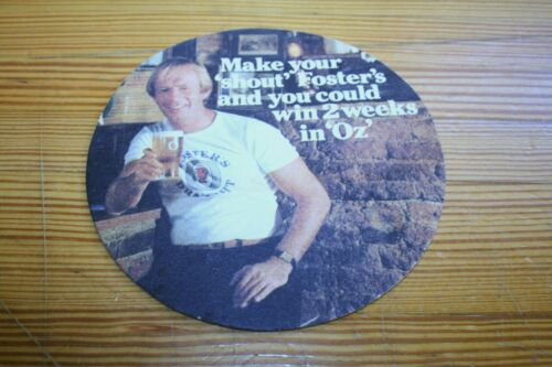 "1 COASTERS FOSTER'S DRAFT BEER ""OZ"" PAUL HOGAN AUSTRALIAN FOR LAGER"