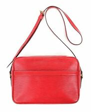 "LOUIS VUITTON ""Trocadero"" c.1993 Red Epi Leather Adjustable Shoulder Bag Purse"
