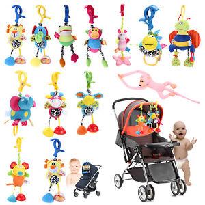 Baby Crib Cot Pram Hanging Rattles Spiral Stroller Bed Car Seat Pushchair Toy HY