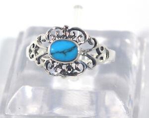 Damen-Ring-925-Sterling-Silber-Perlmutt-Abalone-Onyx-Tuerkis-Howlith-Gr-50-59-Neu