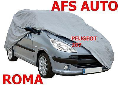 Amichevole Telo Copriauto Telato Felpato Peugeot 207 Berlina Impermeabile Zip Lato Guida