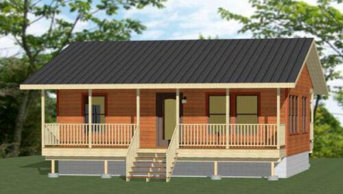 30x24 House 720 sq ft Model 6B 1 Bedroom 1 Bath PDF Floor Plan