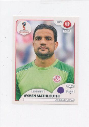 2018 PANINI STICKER FIFA WORLD CUP RUSSIA #554 AYMEN MATHLOUTHI TUNISIA *49380