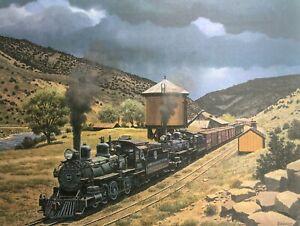 Howard-Fogg-Denver-amp-Rio-Grande-Western-Railroad-Print-Class-T-12-Steam-Engines