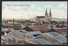 China-Canton-Roman Catholic Cathedral-Bird's Eye View-Antique Postcard