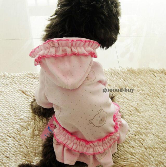 Female Pet Dog Puppy Skirt Dresses Dress apparel clothing Hat coat 5 size