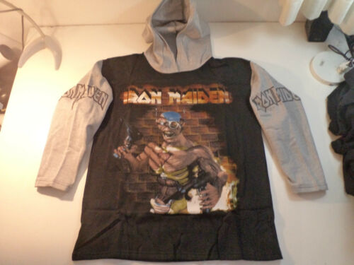 Vintage IRON MAIDEN Unused HOODIE 90s heavy metal metallica ozzy dio shirt t