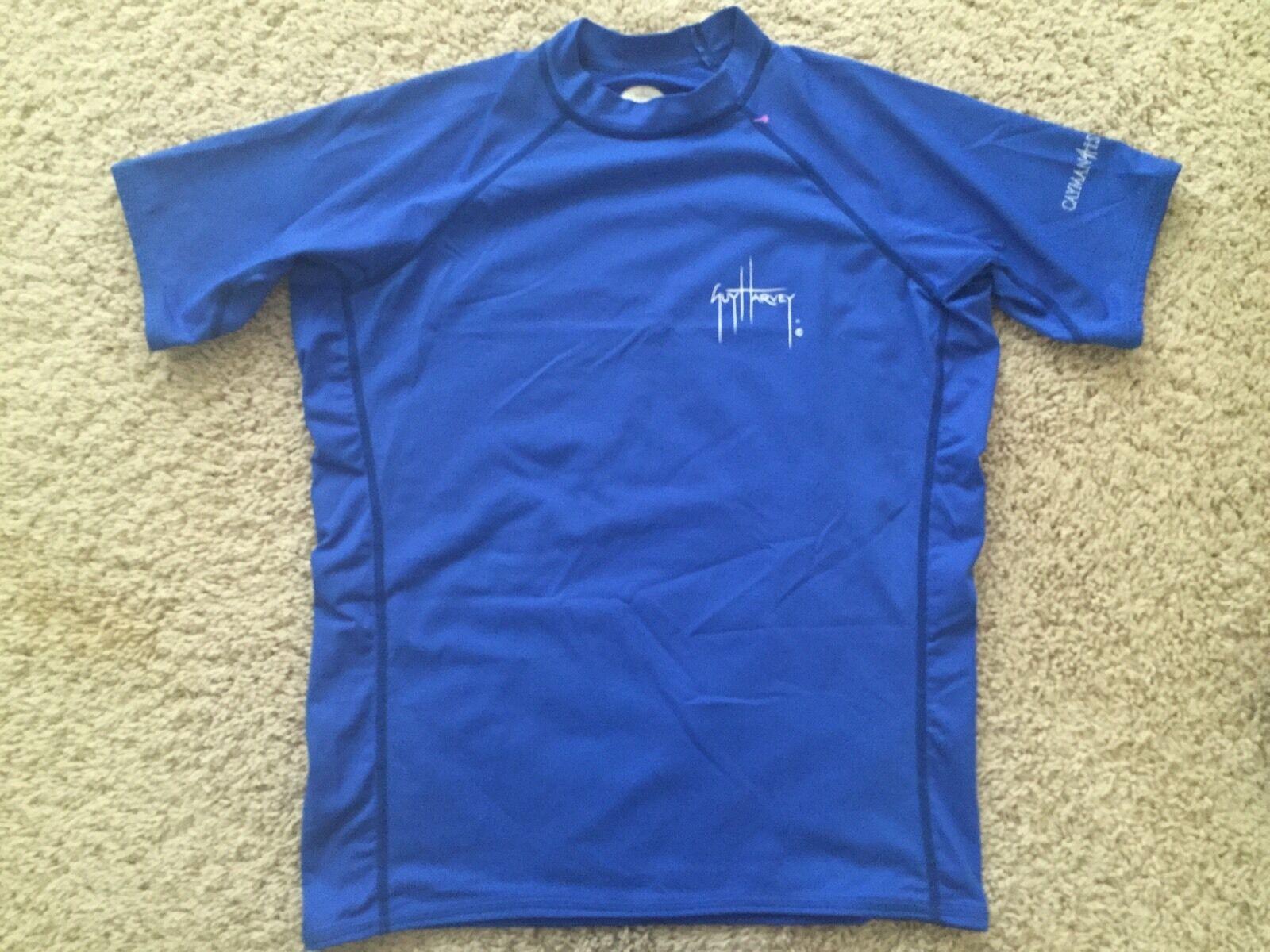 Boys Youth Guy Harvey Swim Shirt Rashguard bluee Size XL Extra Large Cayman