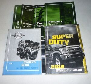 ford  super duty owners manual set