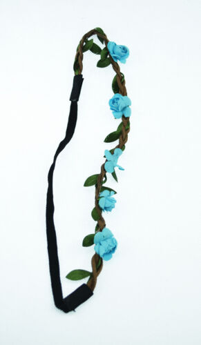 Floral Flower Party Wedding Synthetic Leather Women Girls Headband Hair Band