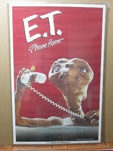 Vintage-Poster-E-T-The-Extra-Terrestrial-Movie-ET-1982-Phone-home-Inv-G2966