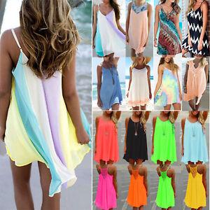 Women-Summer-Chiffon-Beach-Wear-Bikini-Cover-Up-Kaftan-Casual-Loose-Sun-Dress