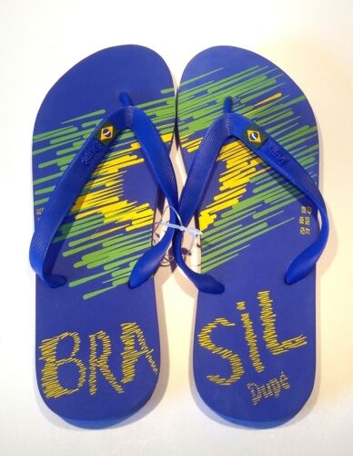 "39//40 Dupe Zehsandalen aus Brasilien Typ /"" Brasil Flyer /"" NEU blau"