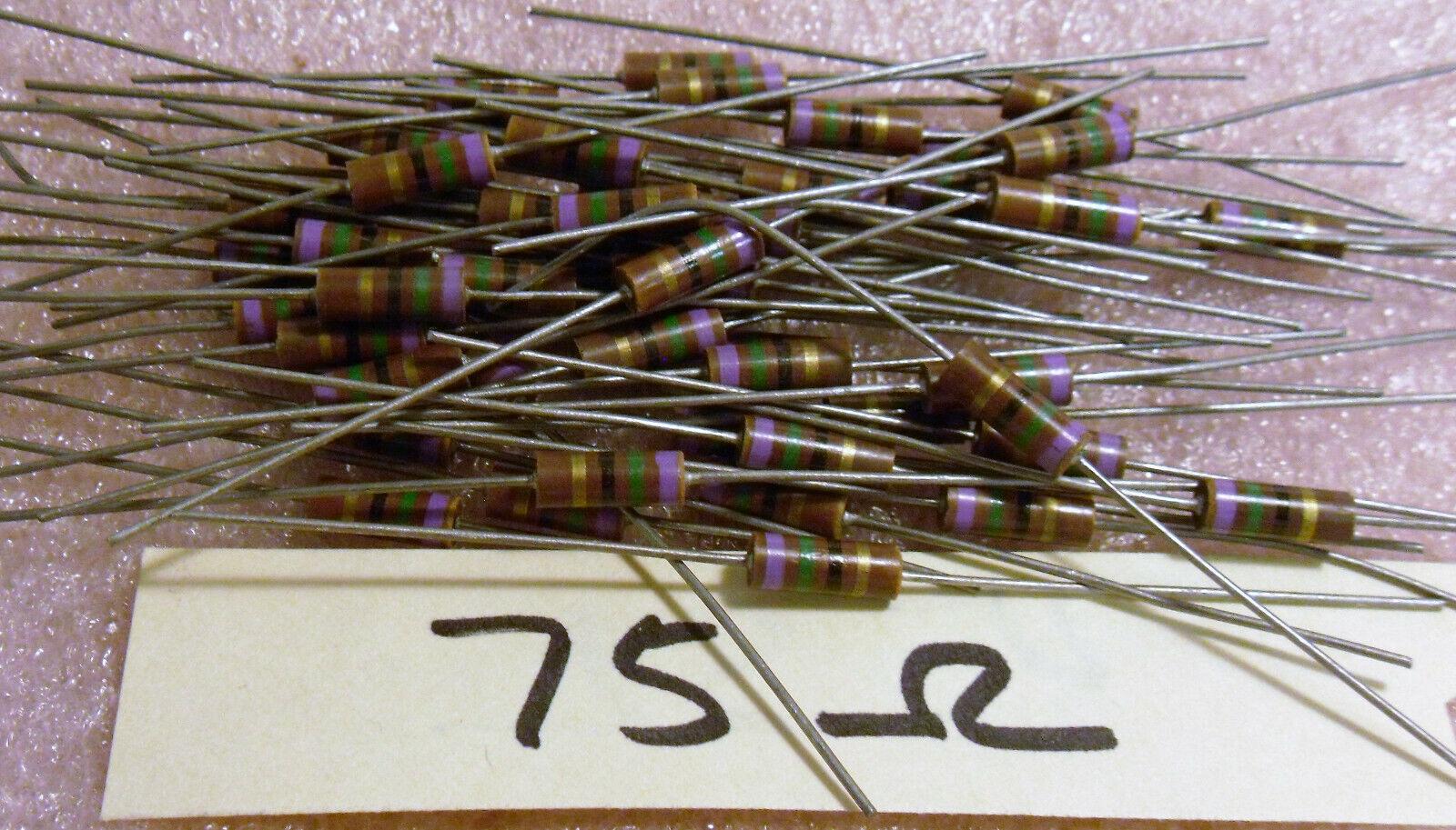x Résistance Resistor 12k 0.25 W carbone carbon #a973 50 pcs