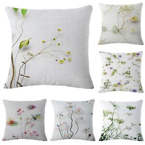 Pillow Case Cotton Linen Car Sofa Bed Waist Throw Cushion Cover Home Decoration
