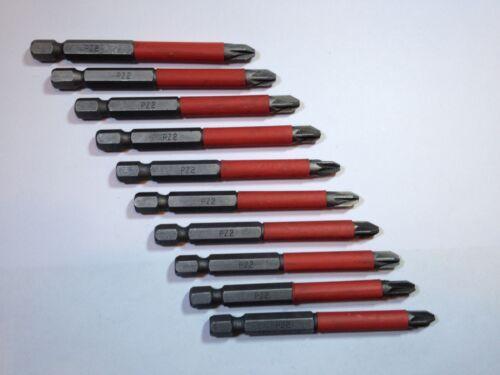 10pc quality 75mm pz2 Screwdriver Bit Set fits makita dewalt bosch drill driver