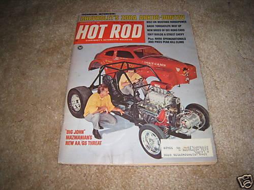 HOT ROD magazine September 1967 Zora Arkus Duntov Corvette Mustang buggies
