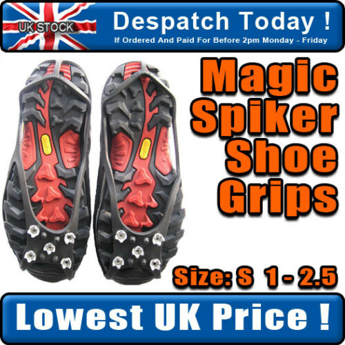 NEW* SNOW /& ICE OVER SHOE ANTI-SLIP FOOTWEAR GRIPPERS S