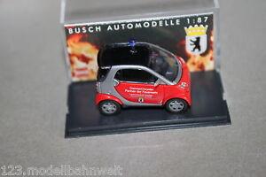 Busch-48933-Smart-City-Coupe-Vigili-del-Fuoco-Berlino-1-87-traccia-h0-OVP
