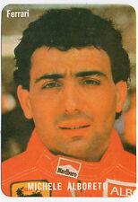 1985 portugués De Bolsillo Calendario F1 Scuderia Ferrari Team Driver Michele Alboreto