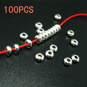 100PCS-Tibetan-Silver-Round-Spacer-Beads-DIY-Manual-Jewelry-Making-Accessories