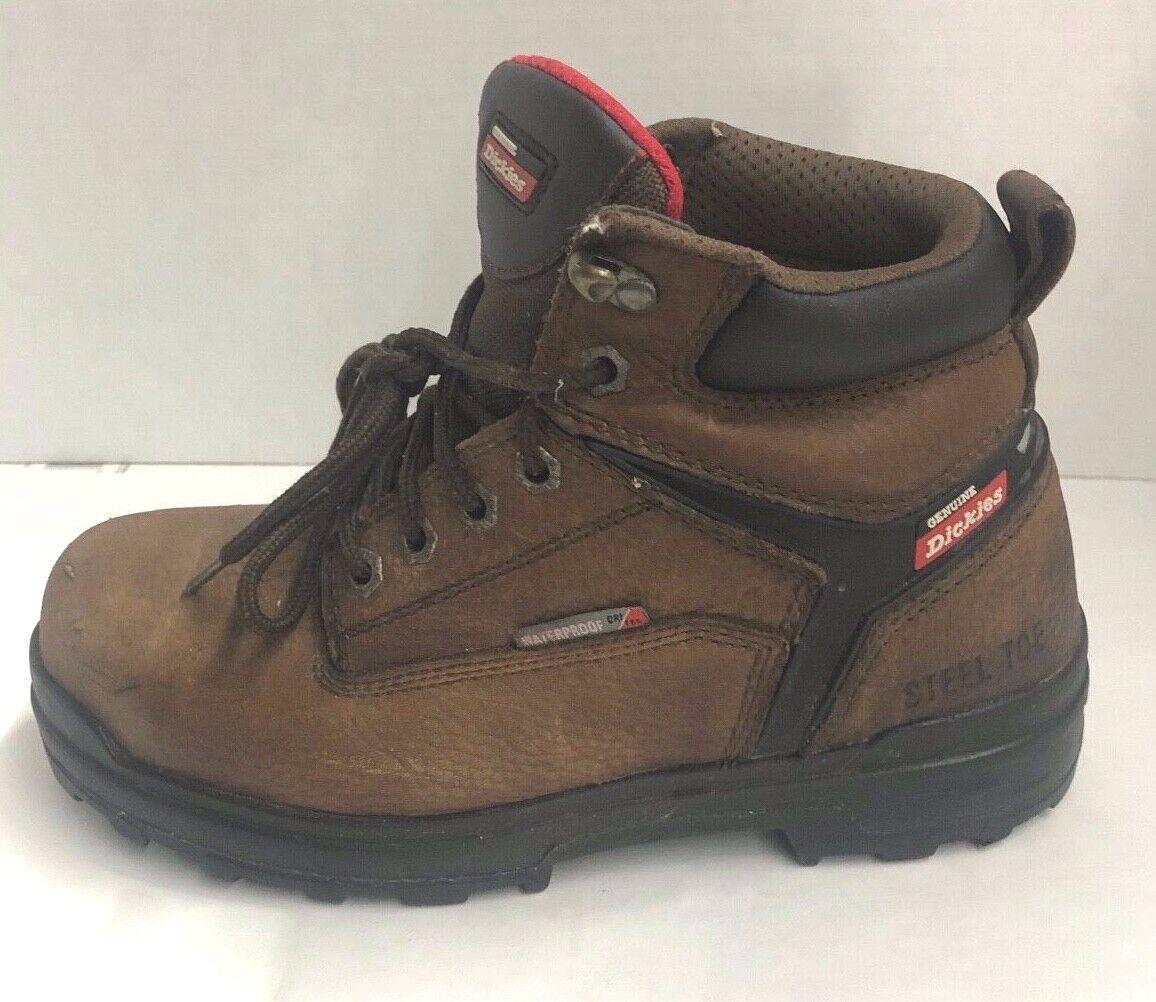 Mens Dickies braun Toe Steel 7.5 Größe 551124253 Stiefel
