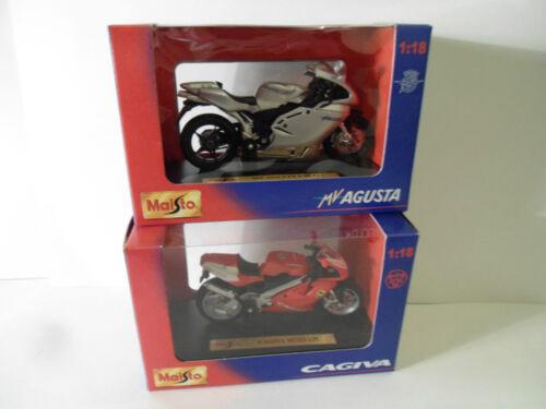 Motorräder MV AGUSTA CAGIVA MITO  Maisto 1//18