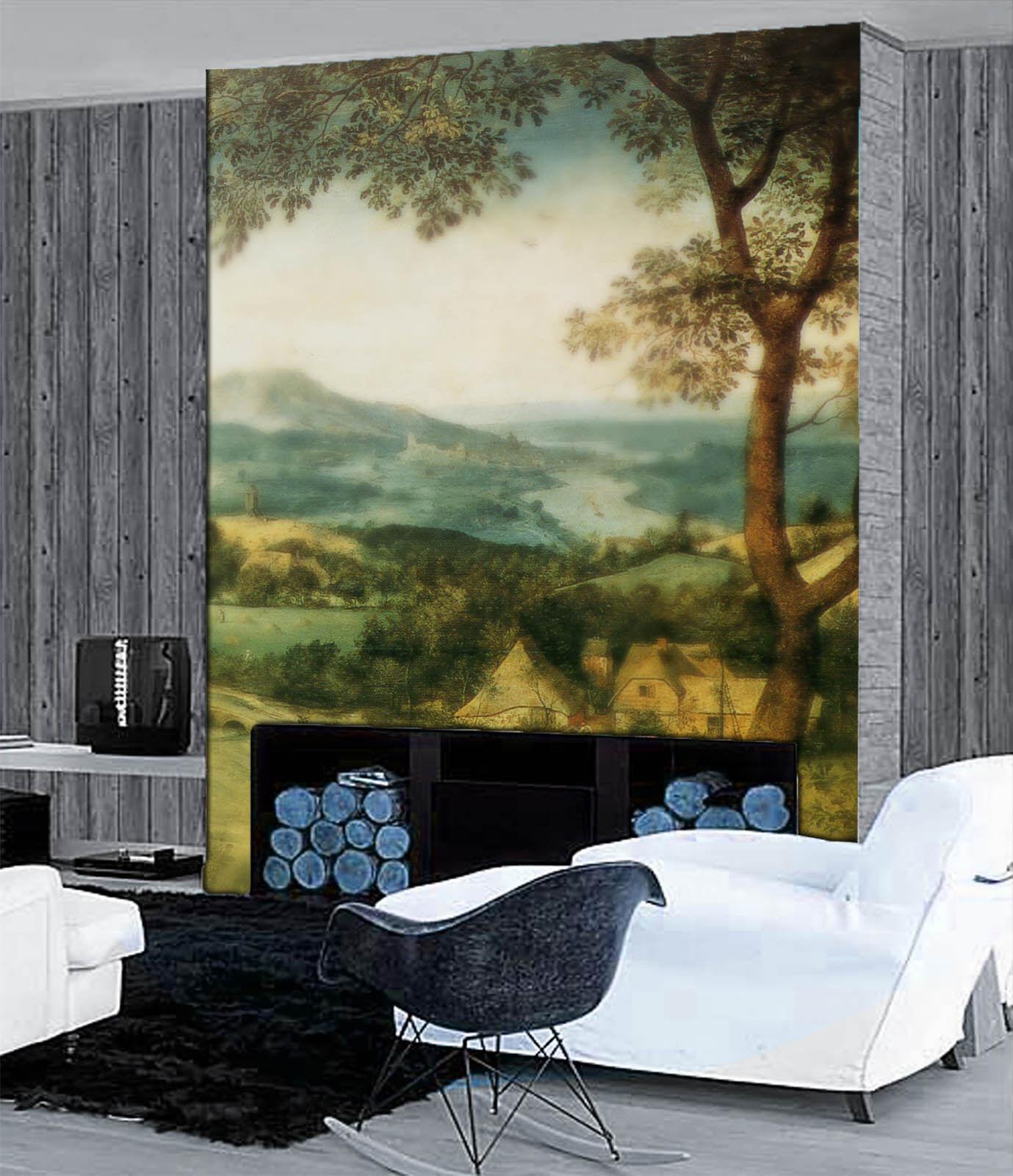 3D Hazy Hut Trees 77 Wall Paper Murals Wall Print Wall Wallpaper Mural AU Kyra
