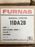 Furnas Manual Starter 11da2b Size One Enclosure 115/230v 1 1/2 / 3 Hp